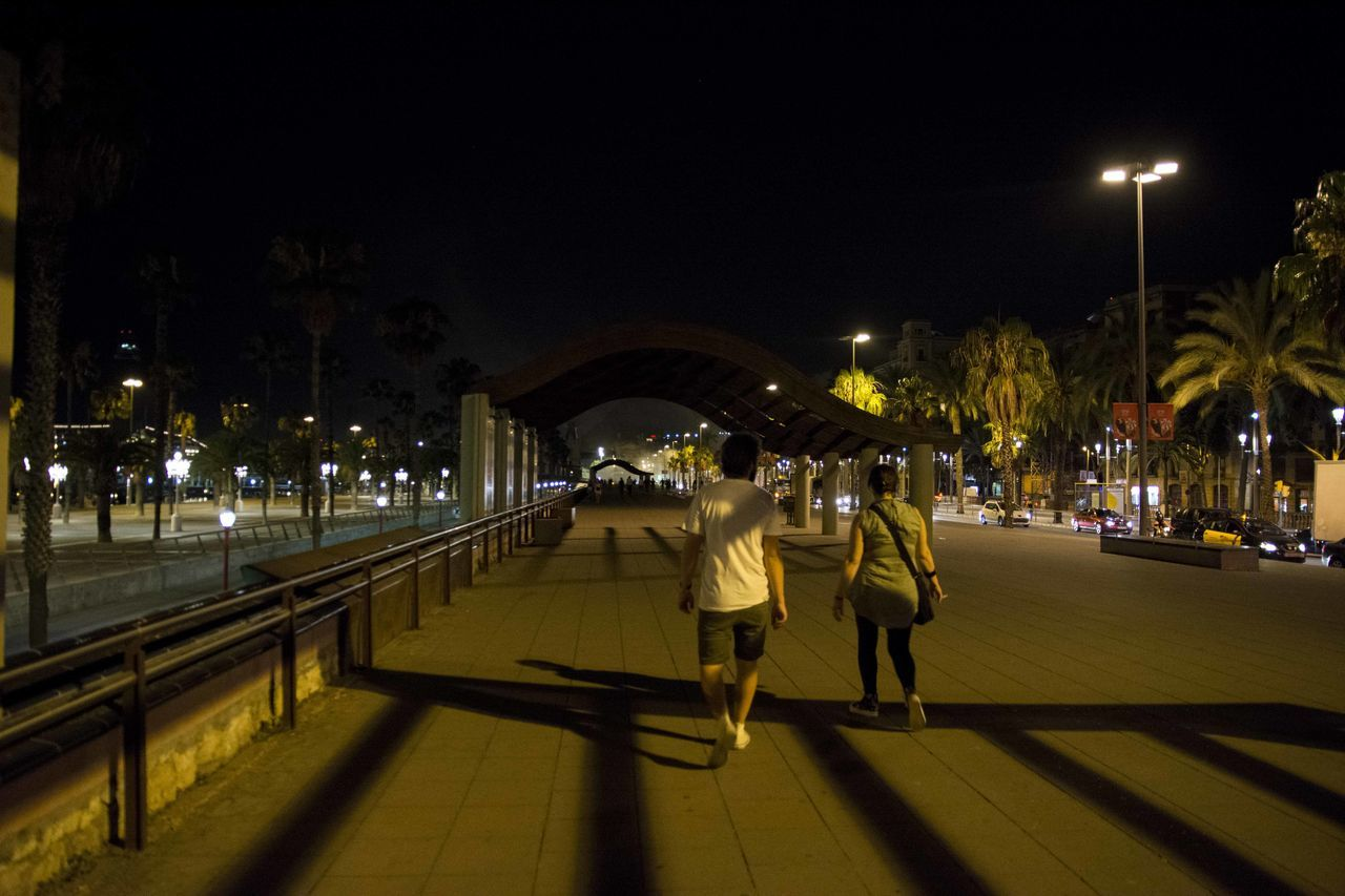 My Year My View Street Light Illuminated City Real People Outdoors Travel Destinations Lifestyles Night Architecture Togetherness Nikon D7100 EyeEm Gallery EyeEm Best Shots EyeEmBestPics Barcelona Streets Barcelona, Spain Barça waiting game Waiting Game