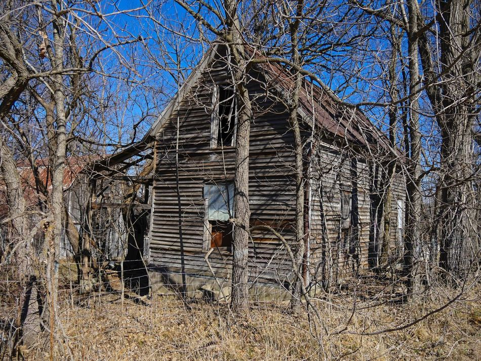 HOMEPLACE ~ Saint Joseph, Missouri USA ~ Built Structure Architecture House Building Exterior Bare Tree Outdoors Tree Nature Day No People Sky Architecture Frozen In Time Missouriphotography Kcac Artist Walker Evans Relicsofthepast Saint Joseph Nature Tree
