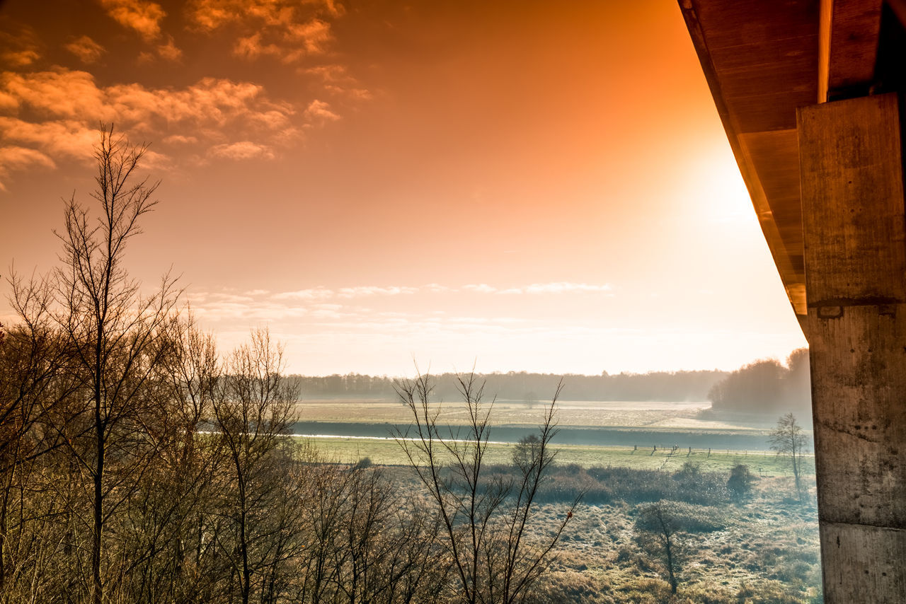 Unser the Bridge Sunset Sky Outdoors Nature Bridge - Man Made Structure Colorfull Field Winter A Beautiful Day