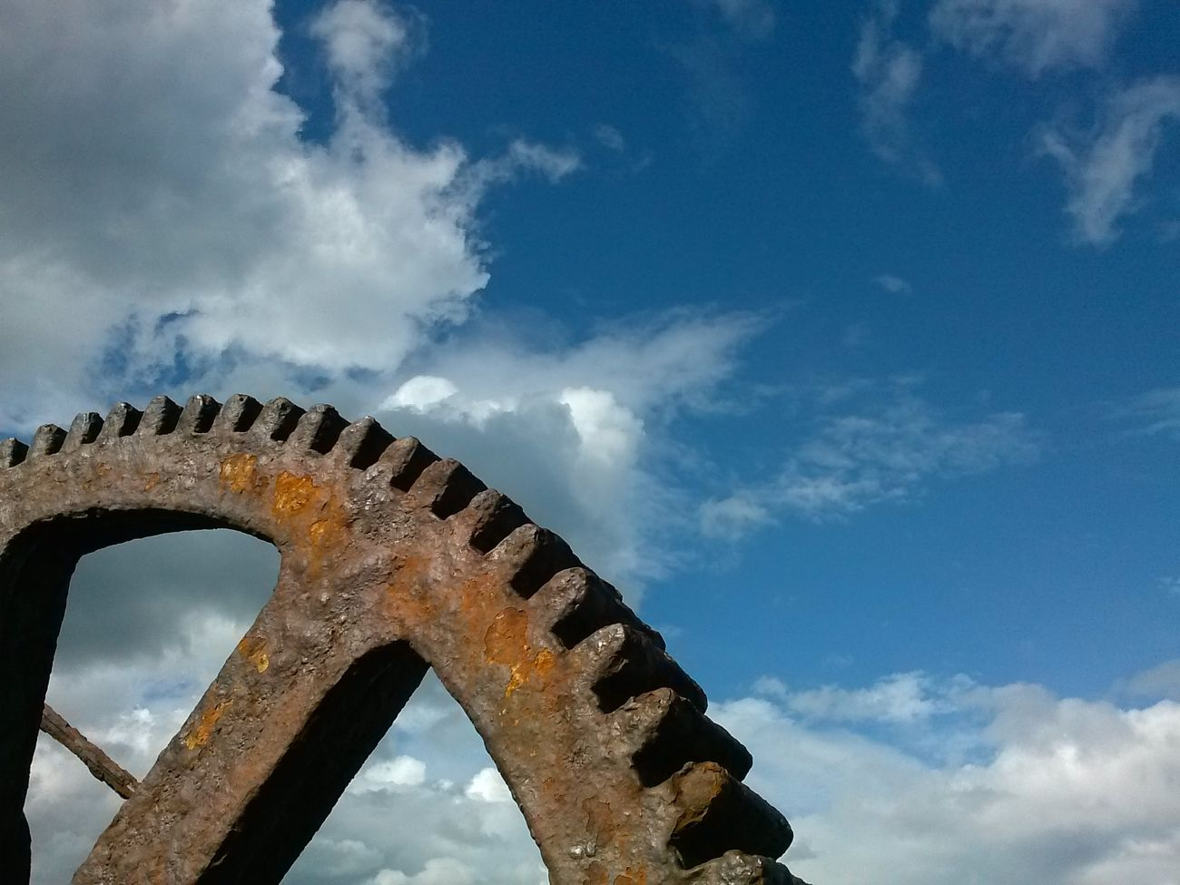 Outdoors Sky Cloud - Sky Bridge - Man Made Structure High Contrast Transportation Cog Future Industry Old Gear Factory