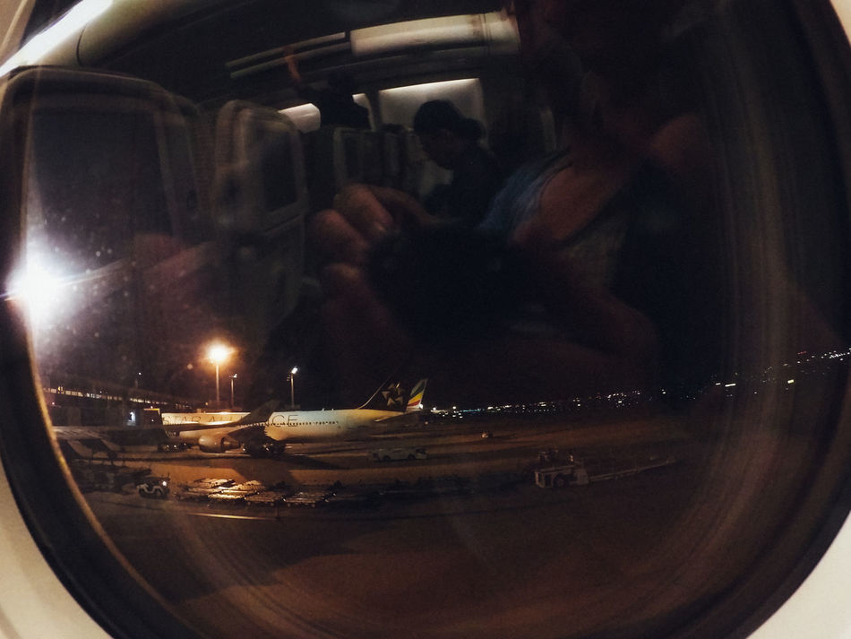 Airplane Airport Boarding Enjoy Finding New Frontiers Flight Glitch Indoors  Night People Pivotal Ideas Reflection Shadows & Lights Silhouettes Start A Trip Transportation Traveling Home For The Holidays Vacations Vehicle Interior Window