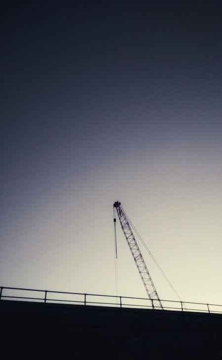 Crane Sky No People Outdoors