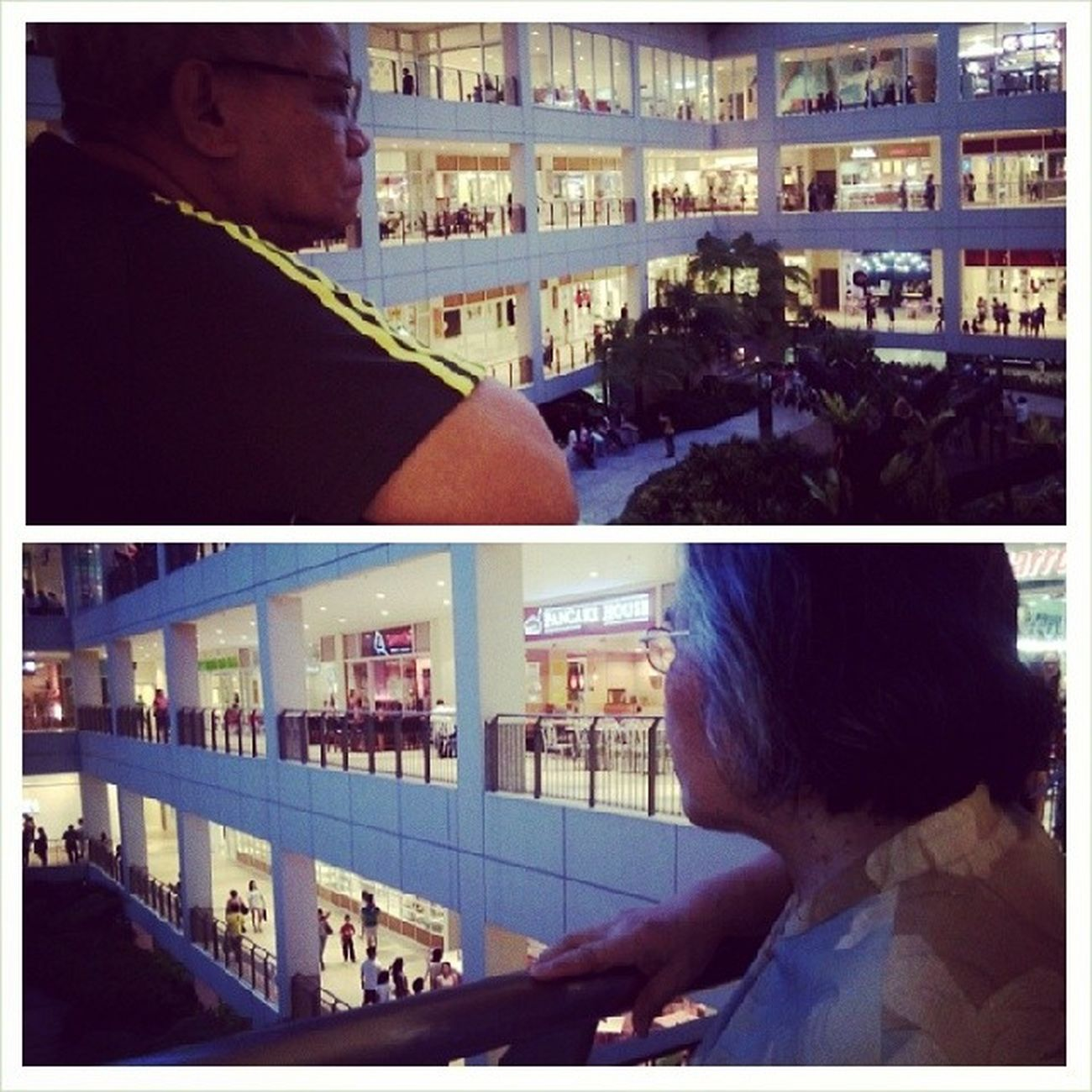 Nanay and Papang in Centrio. Panalagsa rani eh. Lightsgalore