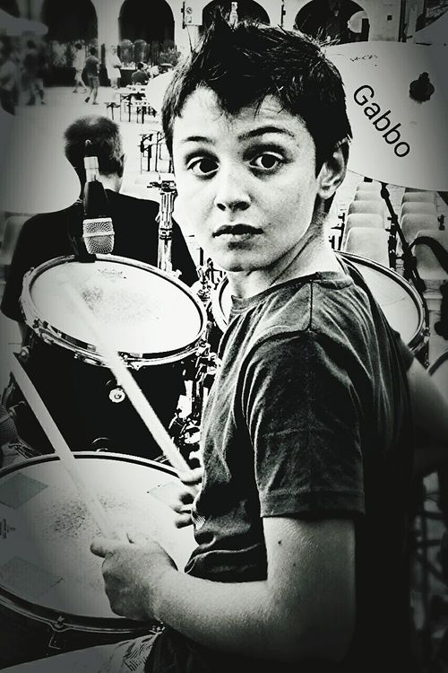 Drummer 9 Years Old Live Music The Human Experience Music Blackandwhite Drumming Love❤ Enjoying Life Experience