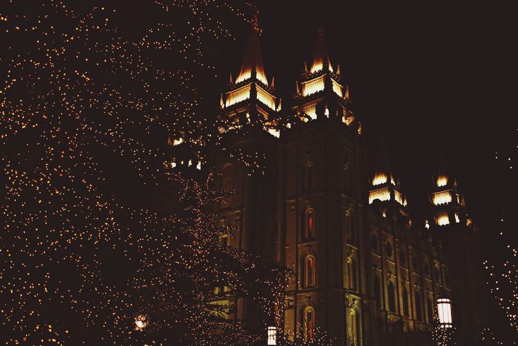 Christmas Lights Salt Lake City Christmas Holiday Temple