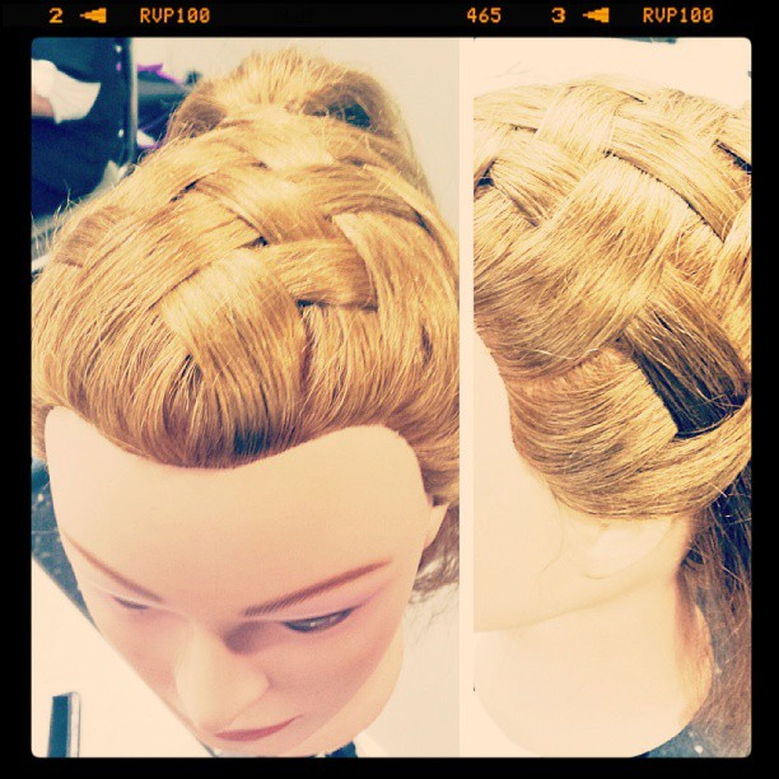 Did this basket weave on a manequin yesterday! Lol I was so proud :)