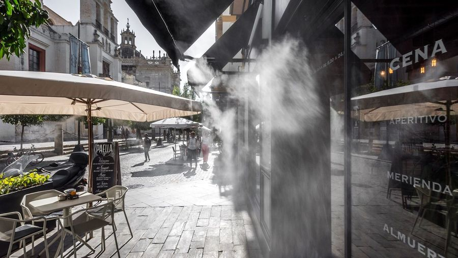 Pretty hot in Seville Building Exterior Built Structure Architecture Street Day Outdoors City Real People