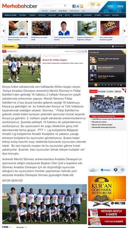 I & my friends in the club Côte-d'Ivoire publication of this news this morning in the newspaper Konya hello ⚽️??