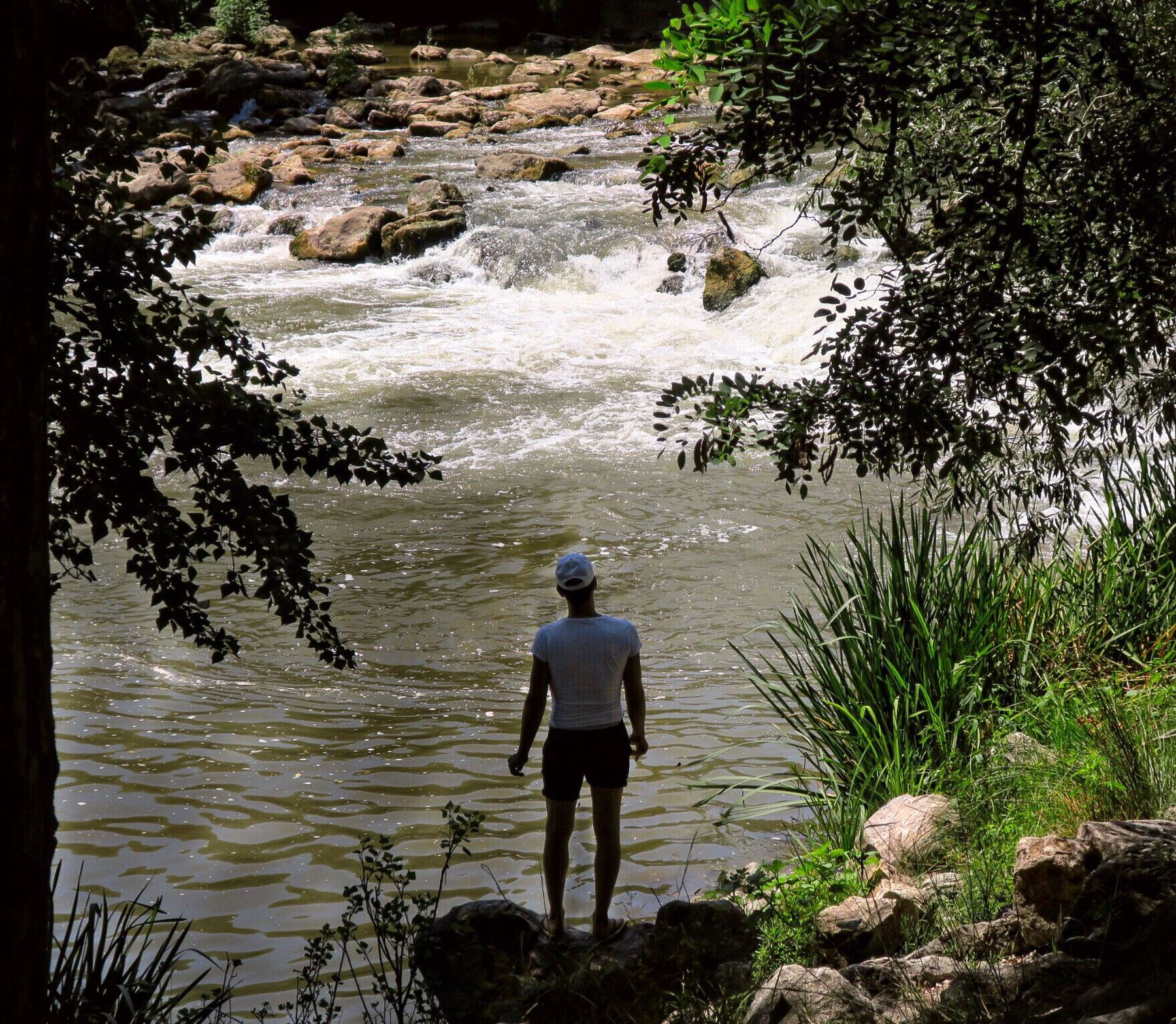 The Secret Spaces Rear View Water Nature Real People One Person Leisure Activity Beauty In Nature Lifestyles Standing Outdoors Hiking Tree Full Length Women Tranquility Scenics Day Men Adventure People Italy Riverside River Volturno