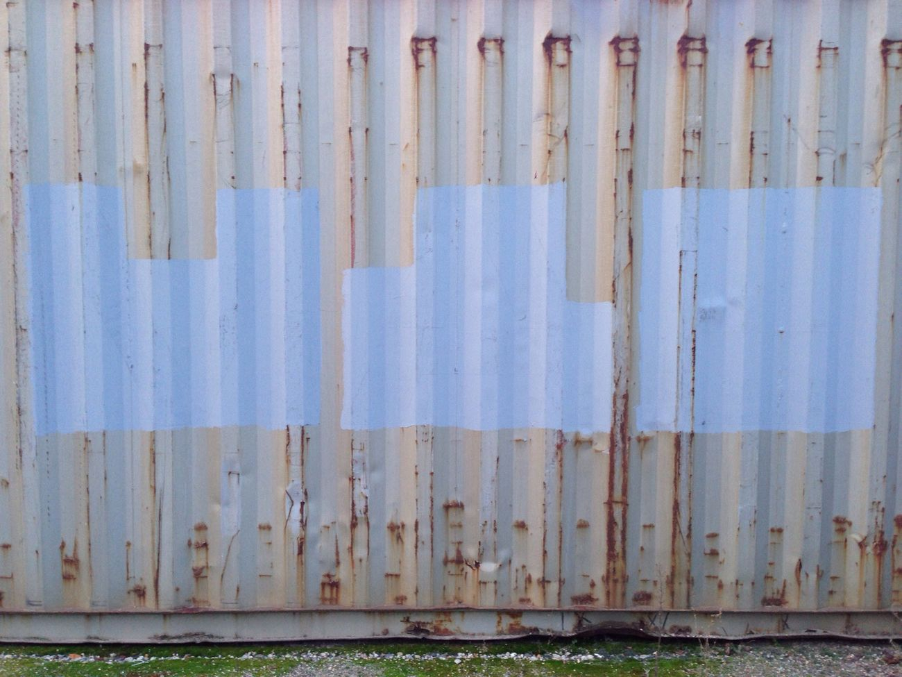 Paint on container wall Taking Photos Metal Urban Geometry Paint