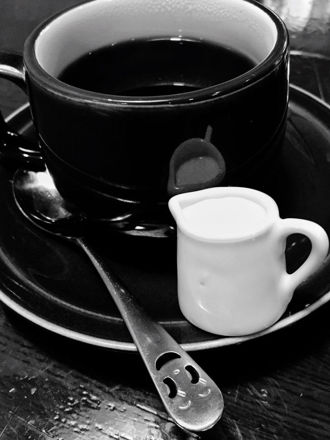 Coffee Kinosaki Reflections Blackandwhite B&w