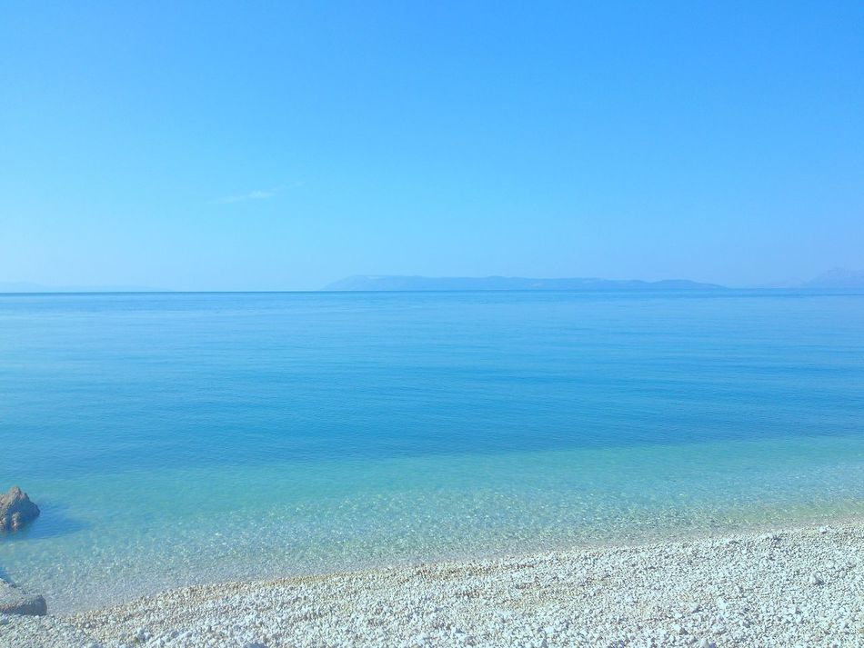 Sea Blue Horizon Over Water Clear Sky Tranquility Calm Sea Adriatic Coast