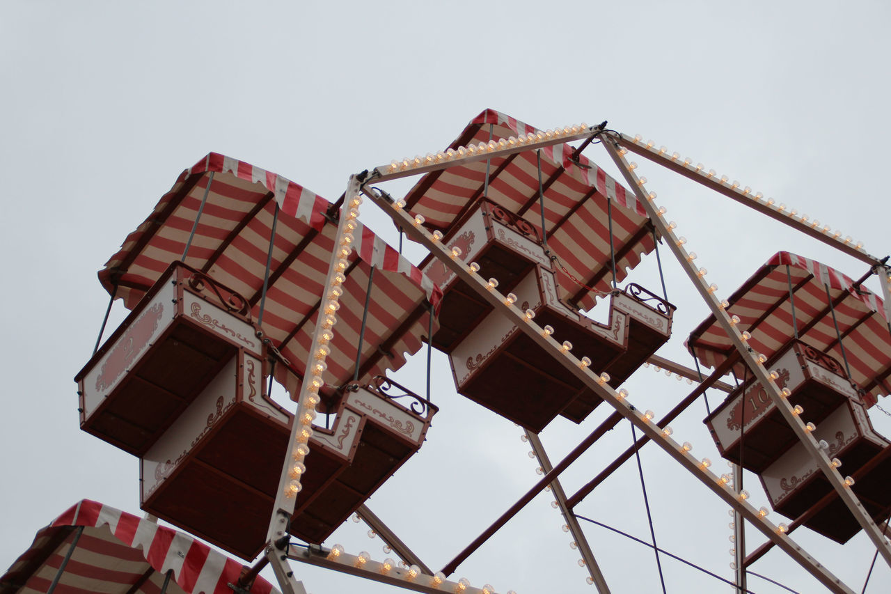 Small Ferris wheel on the Christmas Market Day Ferris Wheel For Children Fun Gondola View Gondolas Have Fun High Up No People Outdoors Rides Sky Turns