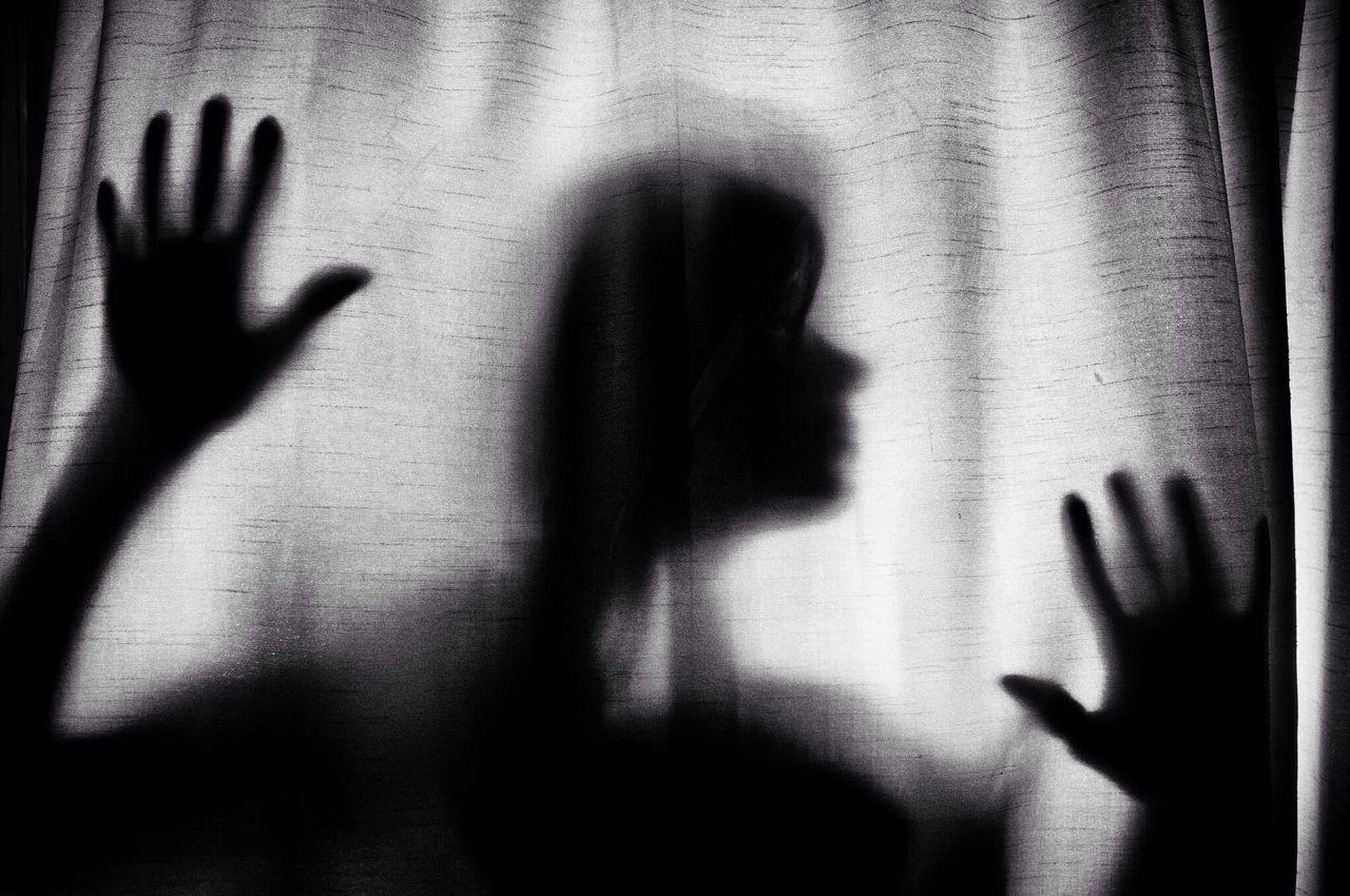 Beautiful stock photos of silhouette, Curtain, Headshot, Human Hand, Human Head
