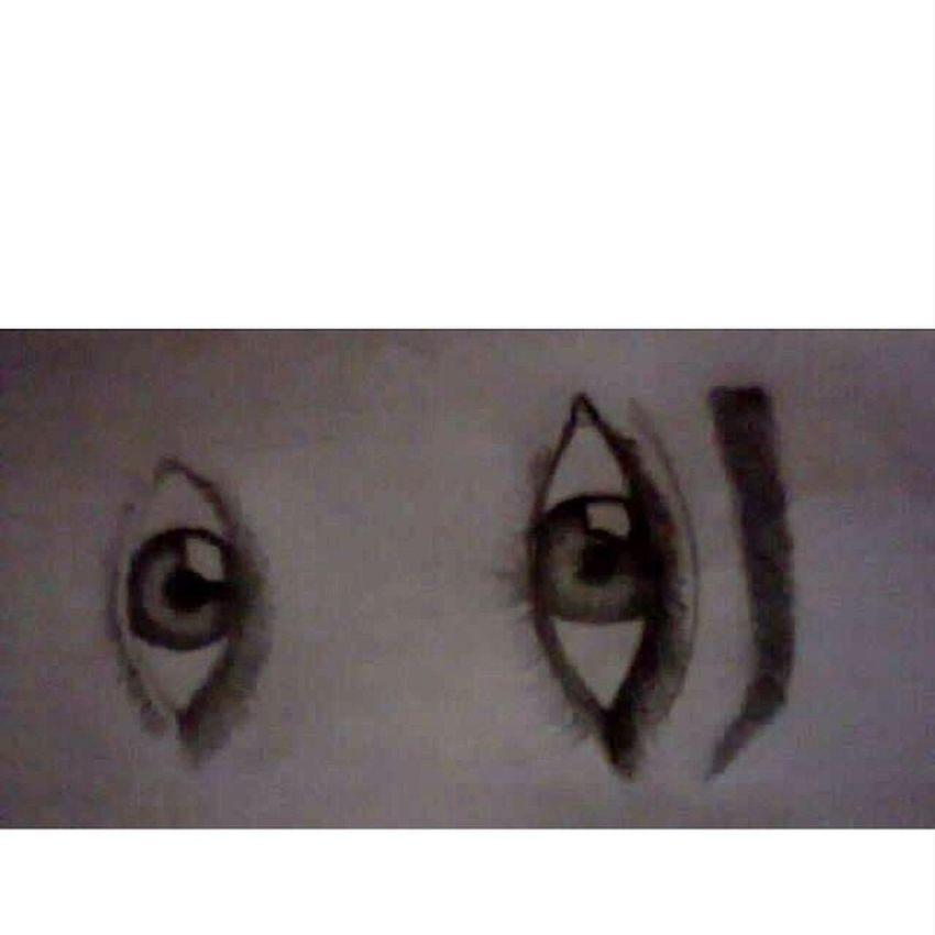 """lol. i think my """"eye-drawing skills"""" are improving. it looks more realistic now. ☺ Art Eyes Feeling Artistic"""