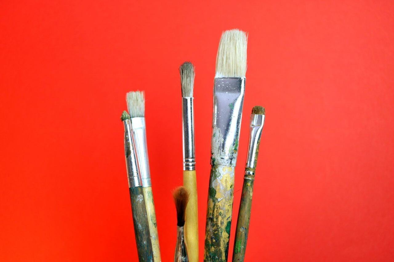Art Red Pencil Brush Brushes Red Sky Artist Art And Craft Art, Drawing, Creativity ArtWork Artistic Colors Colorful