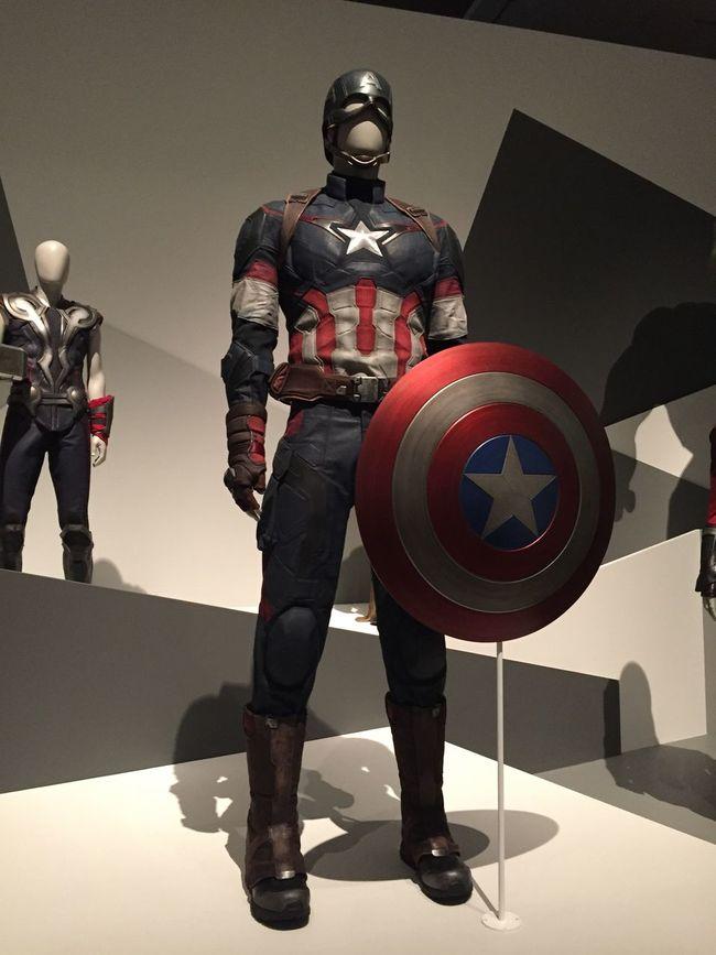 Captain America Helmet Brisbane Marvel Exhibit Goma