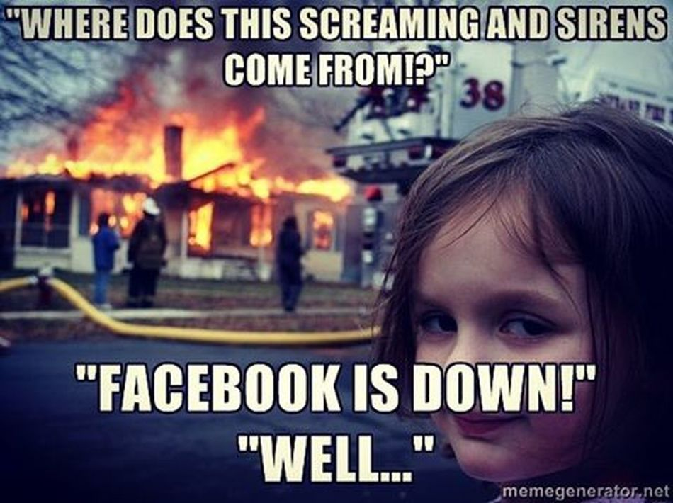 Facebook Offline FacebookDown Haha Itwasntme Well