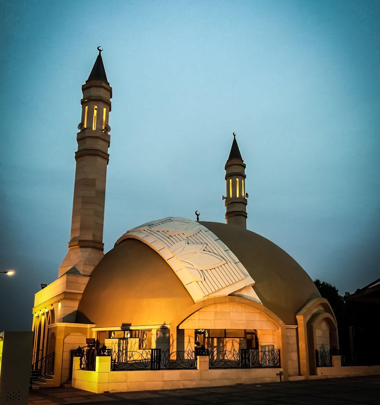 Night Illuminated Dome Tower Place Of Worship Sky Outdoors Kuwait City Kuwait Kuwaitphoto Sunset Kuwaitinstagram