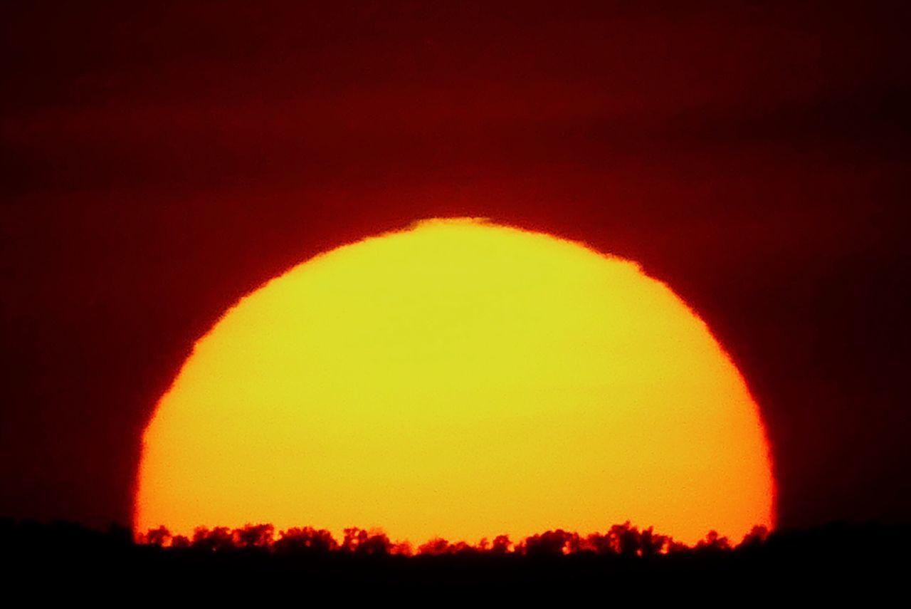 Ciel Sky Nature Soleil Couchant Coucher De Soleil ☀️