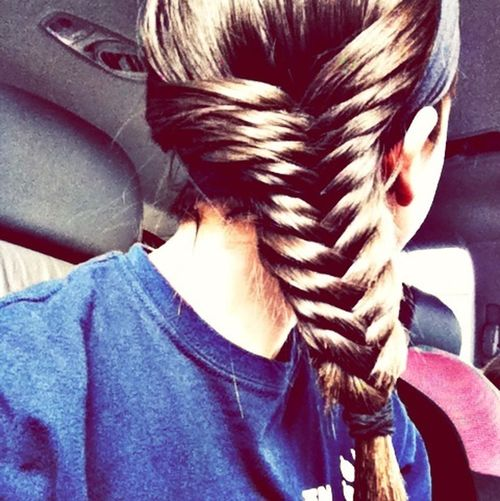 fish tailed my hair (: