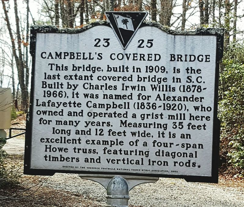 Campbell's Covered Bridge historical marker Text Communication Outdoors No People Day Close-up Nature Campbell's Covered Bridge Tranquility Beauty In Nature Architecture Love My Life