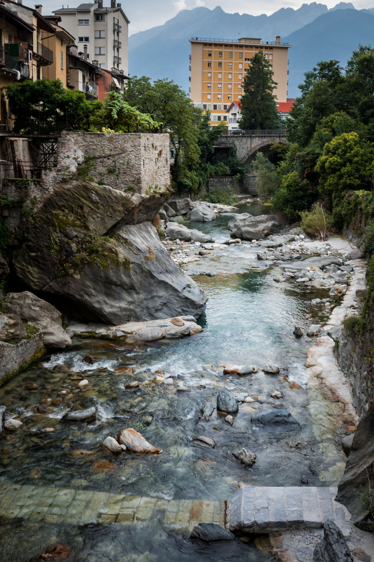 Building Exterior Built Structure Chiavenna Flow  Getty Images Italy My Year My View Nature Old Buildings Old Town Old Village River Rock - Object Rock Formation Rocks Rocks And Water Village