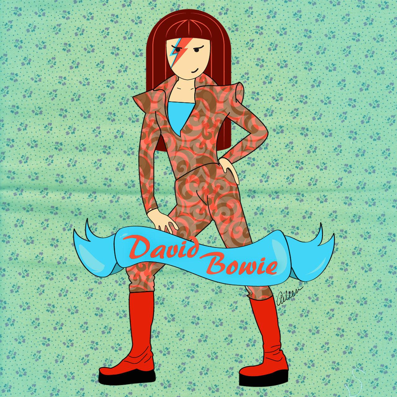 David Bowie - La Malota® www.facebook.com/lamalotaofficial #DavidBowie #fanart