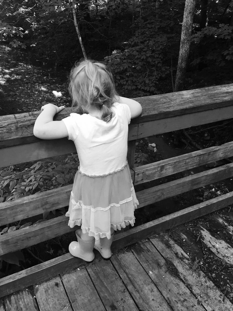 Water Outside Creek MapleWoods Blackandwhite Gwennie Goose Toddlerlife Gwinning Bridge