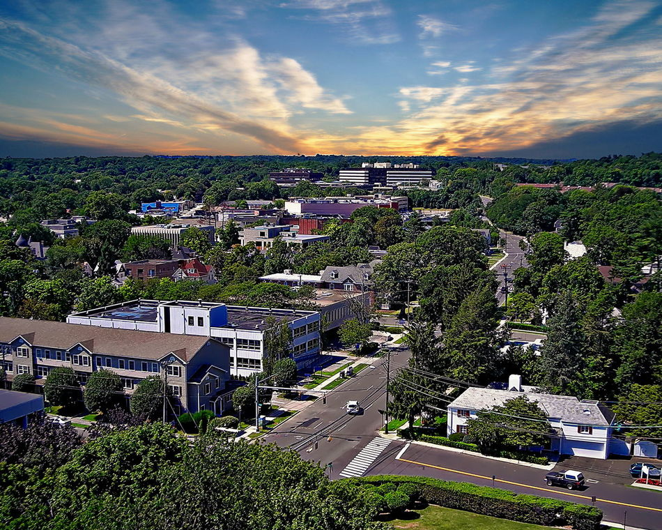 Aerial view of Stamford suburbs - Stamford, CT Architecture Beauty In Nature Building Exterior Built Structure City Cityscape Cloud - Sky Connecticut Day High Angle View House Nature No People Outdoors Residential Building Road Scenics Sky Stamford Ct Tree USA