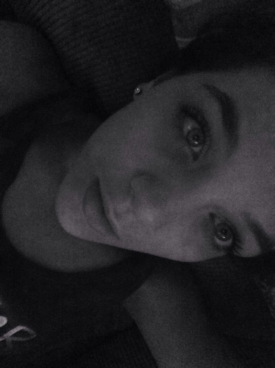 Beauty Black And White Night Blue Eyes