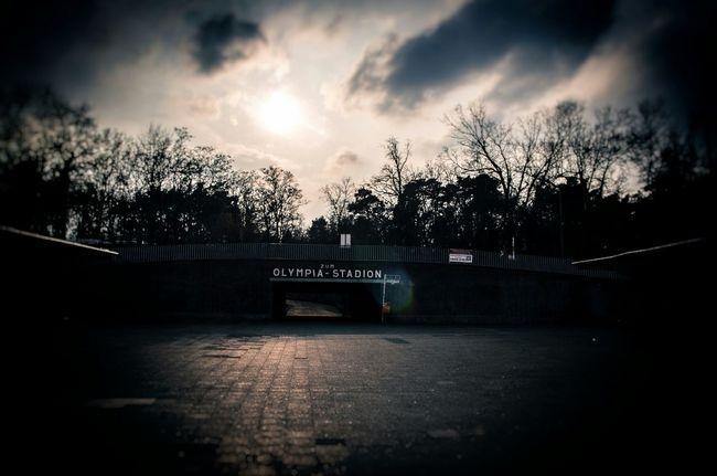 ...e il tumulto del cielo ha sbagliato momento. Berlin My Fuckin Berlin Olympiastadion Taking Photos Dolcenera Fabrizio De Andrè Dark Cityscape