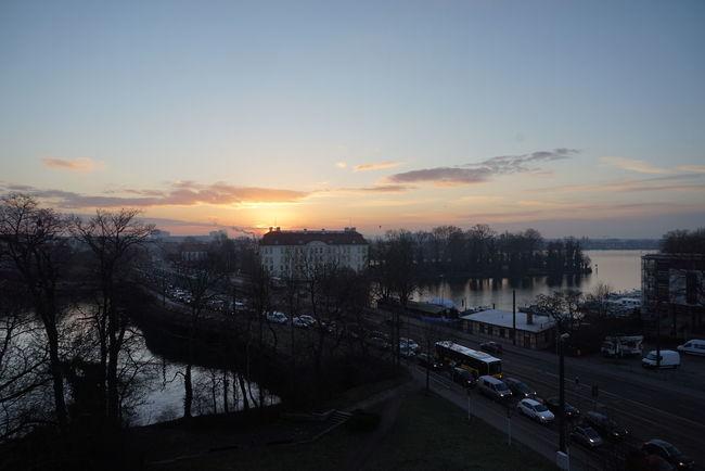 Berlin Cloud - Sky Outdoors Riverside Silhouette Sky Sunset Weather