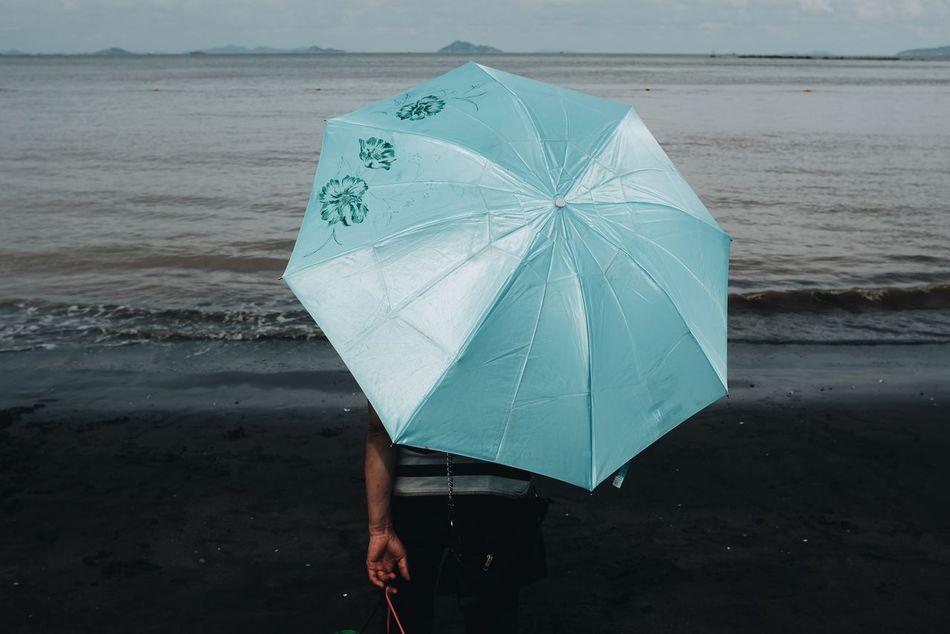 Beautiful stock photos of umbrella, Beach, Blue, Dusk, Leisure Activity