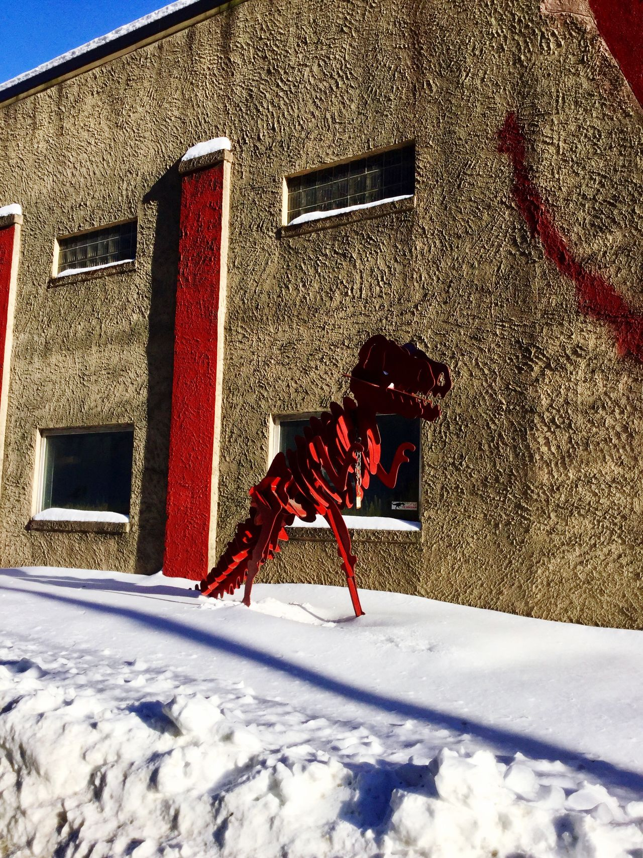 Eye Em New Here Snow Winter Red Built Structure Architecture Outdoors Building Exterior Cold Temperature Day