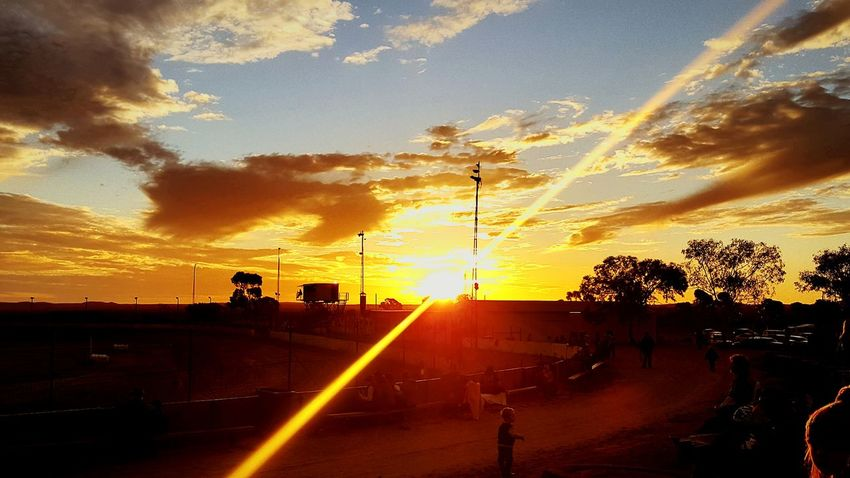 George Baust memorial speedway Broken Hill Speedway Outback Myhome Sky Clouds Sunset Australia Community Memorial