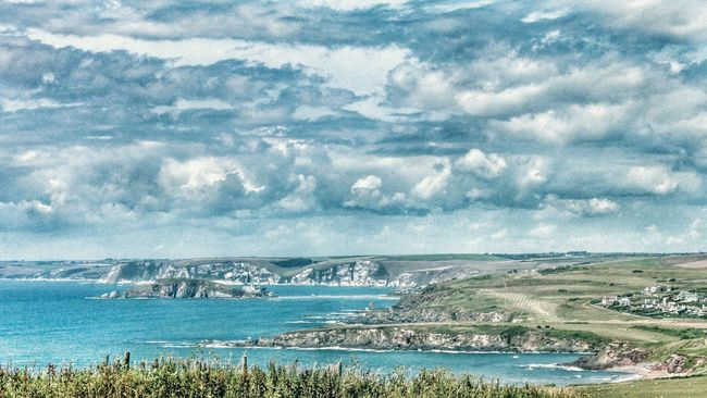 Burgh Island Devon View from Hope Cove Coastline Sea Sea And Sky Ocean Ocean View Clouds And Sky Clouds Showcase: January Landscapes With WhiteWall Landscape Landscape_Collection The Great Outdoors With Adobe The Great Outdoors - 2016 EyeEm Awards