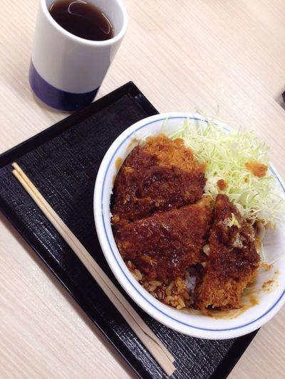 夜ごはん。 丼 どんぶり Donburi Katsu Food Japanese Food Japan Yummy Waribashi Ocha ごちそうさま