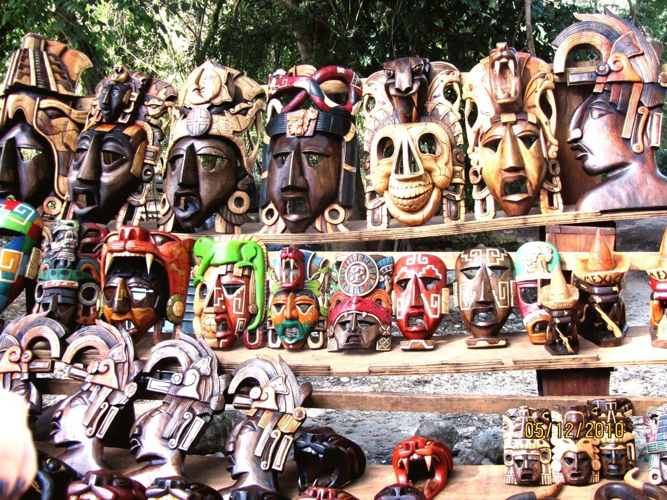 Masks Face Masks Mexico Yúcatan Yucatan Mexico Chichen Itza Travelling Colors Life In Colors