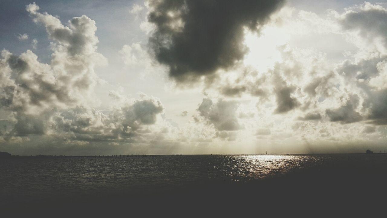 Suntet before storm Sunset And Clouds  Beach Losari Beach