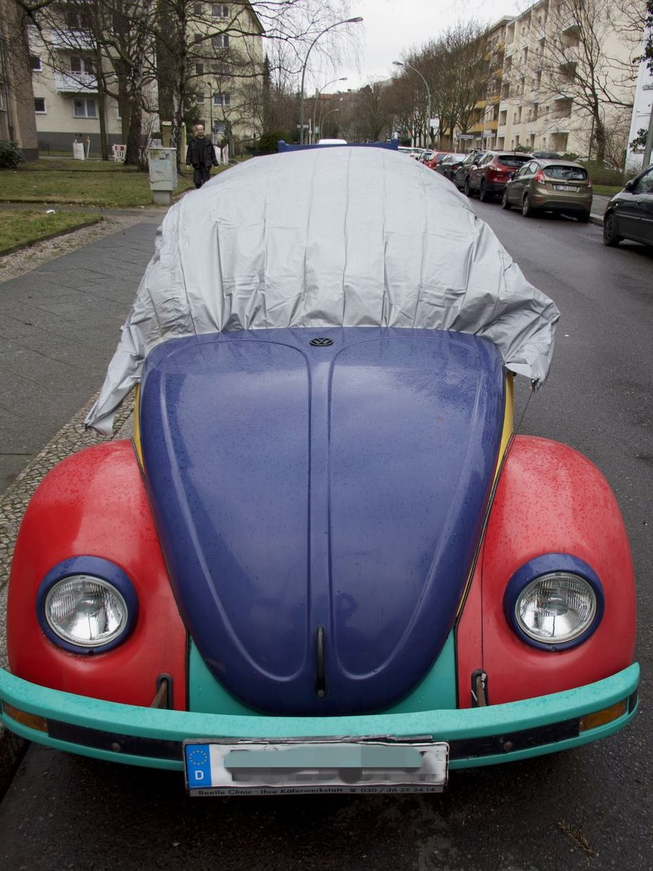 Car Close-up Day Land Vehicle Mode Of Transport No People Outdoors Road Stationary Transportation VW Beetle Wrapped Up