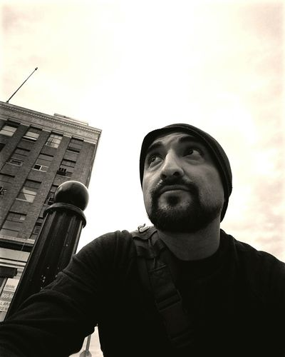 City Human Face One Man Only Explorer Low Angle View Blackandwhite Thingsarelookingup