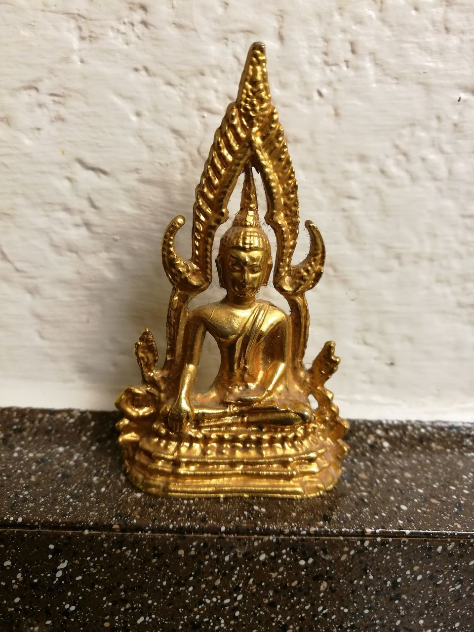 art and craft, sculpture, gold colored, statue, human representation, religion, no people, indoors, spirituality, close-up, day