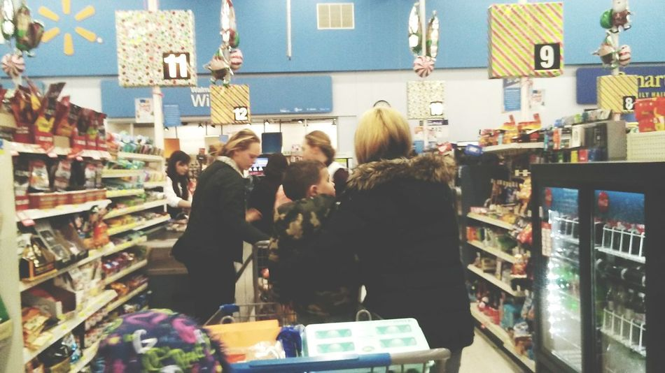 Retail  Holiday - Event Choice Young Adult Young Women Women People Market Men Business Finance And Industry Adult Postcard Day Walmart Supermarket Real People Indoors