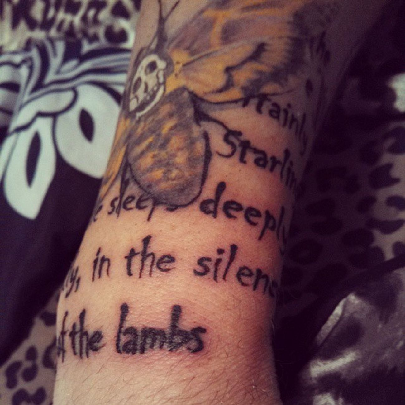 with the quote behind it.. Tattoo Tatted Ink Silenceofthelambs crazyytattoo Clarice starling Hannibal Hollywood crazy sleeve horror film