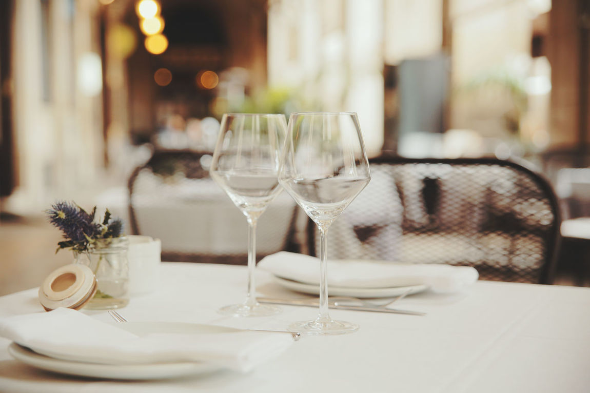 Alcohol Celebration Champagne Flute Close-up Day Dining Table Drink Drinking Glass Food And Drink Indoors  Napkin No People Place Setting Plate Table Wine Wineglass
