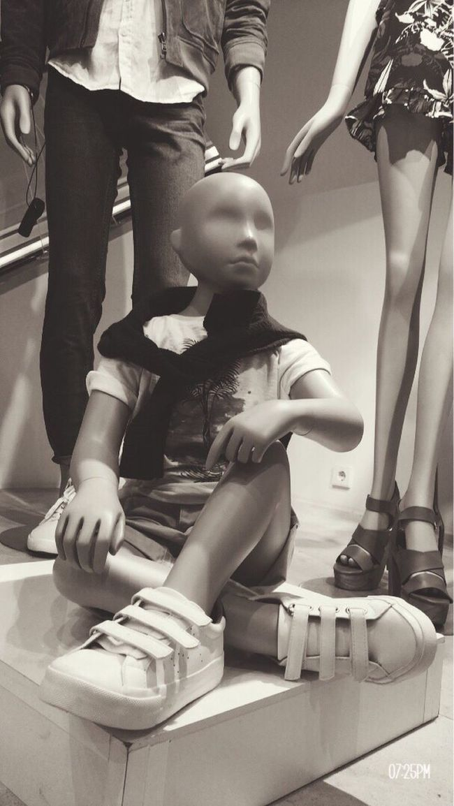 EyeEmNewHere Mannequin Fashion Shopping ♡ Chlothes Child Indoors  Human Leg People Blackandwhite Low Section Adult Day