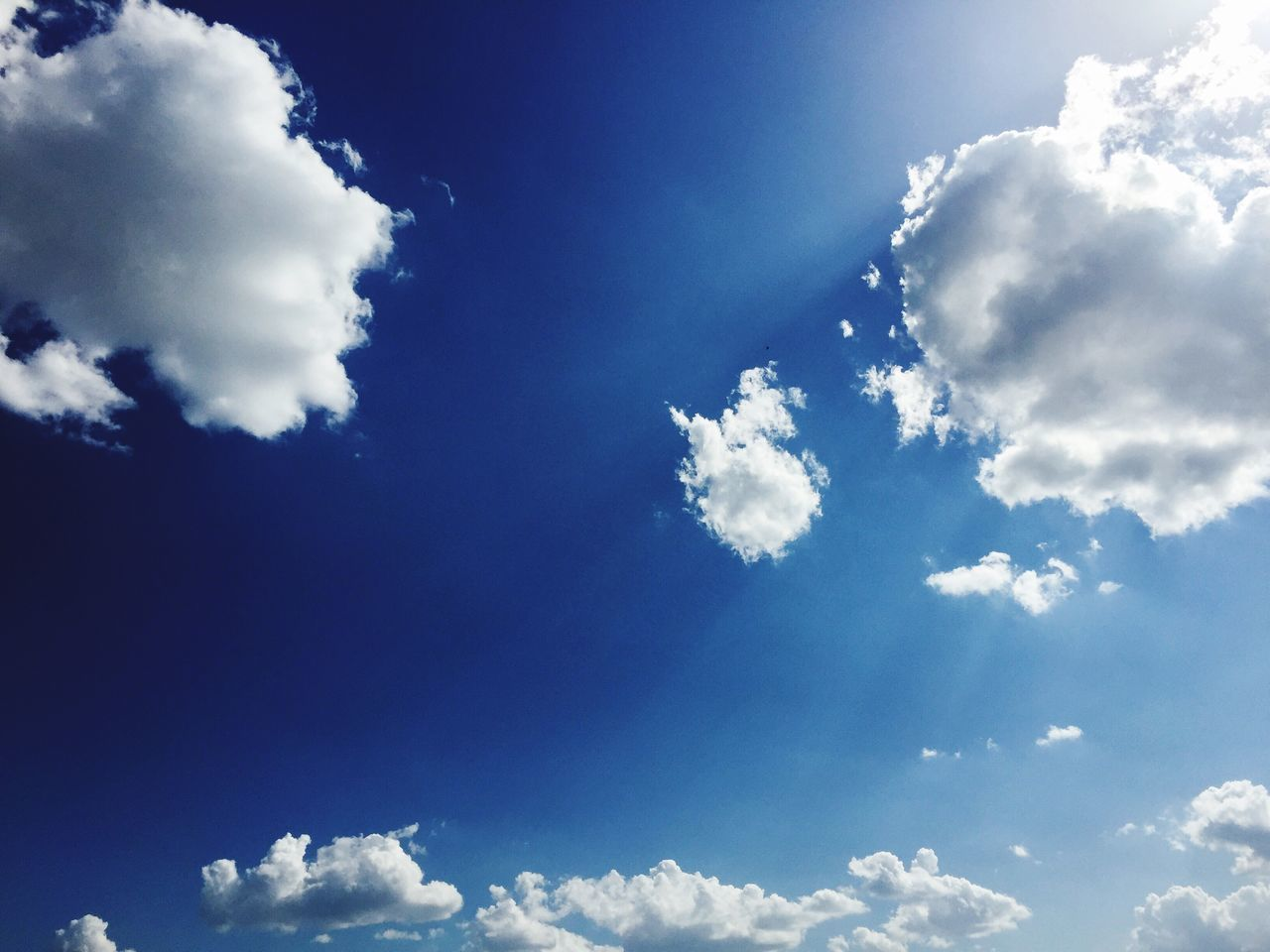 Cloud - Sky Sky Beauty In Nature Low Angle View Nature Blue Backgrounds Sky Only Cloudscape White Color Day Tranquility Scenics Full Frame Outdoors