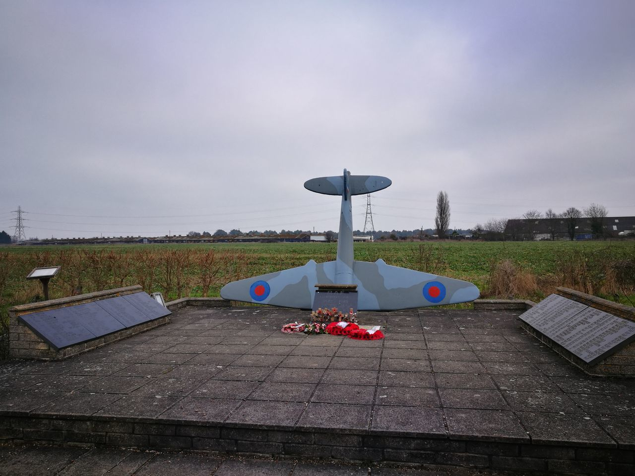 Blue Clear Sky Sunlight Tranquil Scene Sky Outdoors No People Cloud - Sky Day Nature War Memorial Mosquito Royal Air Force Memorial Royal Air Force Poppies