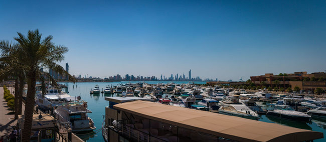 Kuwait Colors Arabic Boat City Cityscape Clear Sky Colourful Harbor Kuwait Kuwait City Kuwait❤ Marina Nautical Vessel Panoramic Photography Skyline Water